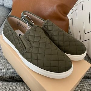 Mossimo Reese Olive Green Slip-on Quilted Sneaker